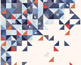 "Moda TRUE BLUE Quilt Kit Fabric Pattern 61"" x 61"" Zen Chic KIT1620"