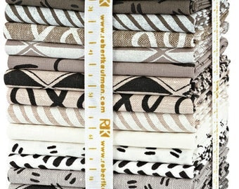 Robert Kaufman Arroyo Neutral Fat Quarter Bundle 20 FQs Precut Cotton Fabric Quilting Erin Dollar FQ-1241-20