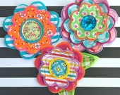 Fresh Picked Flowers (Annika) -- Handmade Fabric and Felt Adornments