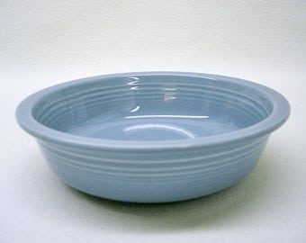 """Fiestaware 7"""" Coupe Soup Bowl- NEVER USED-No Flaws-HLC Fiesta Made in U.S.A.- Discontinued Periwinkle Blue-Fiesta Ware-Perfect Condition"""