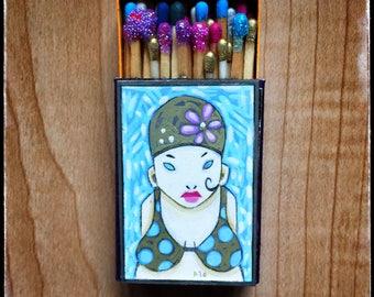 Juanita Matchbox Painting