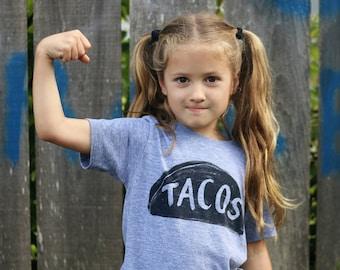 Kid's T-Shirt Gift, Taco Twosday, Taco Party, Girl T-shirt, boy tshirt, baby girl daughter gift son, funny shirt, toddler birthday 2 3 4 5 6