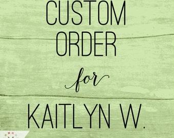 Custom Missionary Banner Order for Kaitlyn W.