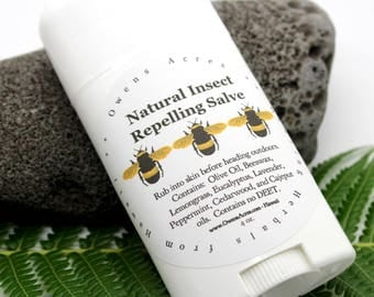 Insect Repelling Salve, All Natural - Lotion for Kids, Camping, Garden, Hiking, Bug Lotion, Insect, Insect Repelling, Bugs, Mosq