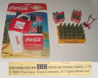 Coca Cola Miniatures -Lot - Bottles- Cases- Transport    Cart -Coke Carriers - Nice Selection