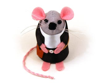 Han Solo Mouse ornament mouse rat cute gift for Star Wars fan dad husband wife boyfriend girlfriend uncle geek collector Harrison Ford