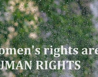 Women's Rights are Human Rights - CHARITY DONATION to ACLU