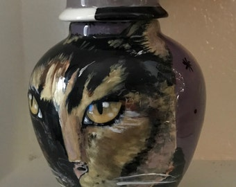 Custom calico cat PET URN for any pet and cats SMALL domestic cat feline tortoise
