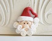 NEW Swirly Santa Ornament