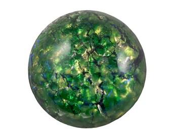Green Foil Opal Round Cabochon 18mm (1) cab3008B