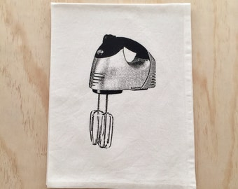 Beater - Hand Printed Tea Towel - Cotton