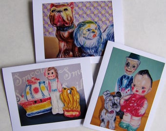 Collectible Chalkware Theme Notecards
