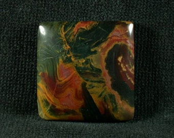 Kaleideoscope Jasper Freeform Cabochon from Prineville Oregon 26x7mm