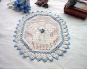 Victorian Angel Crochet Lace Thread Art Doily Reserve Listing for asinglerose37, Gail