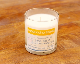 Soy Wax Candle - Cappuccino Brûlée Pure Soy Wax Candle - 7.5 oz