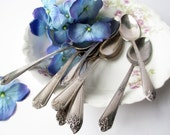 Vintage Teaspoons Silverplate Rogers Oneida Set of Nine - Weddings Bridal
