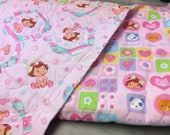 Strawberry Shortcake Pre Quilted Double Sided Fabric