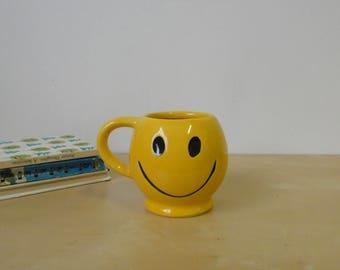 Vintage Mccoy Pottery Smiley Face Mug
