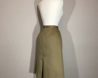 Vintage Weathervane Khaki Skirt, Preppy Khaki Cotton skirt, Khaki  Knee Skirt, ILGWU Union Label
