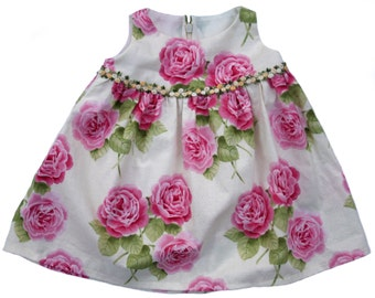 Baby Dress Floral Baby Girl Dress Infant Size 6 Months