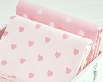 4365 - Heart Cotton Fabric - 62 Inch (Width) x 1/2 Yard (Length)