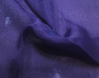 Hand Dyed HYACINTH Silk Organza Fabric - 1/2 Yard