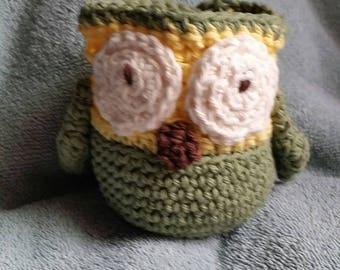 Apple Cozy -Owl, Owl Fruit Cozy, kids gift, teacher gift, fruit cozy, apple cozy,