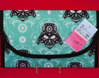 Darth Vader Sugar Skulls Diaper and Wipes Case Holder Clutch