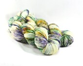 Mardi Gras - Postcard - Mardi Gras Sock Yarn - New Orleans Yarn - Fat Tuesday Yarn - Speckled Sock Yarn