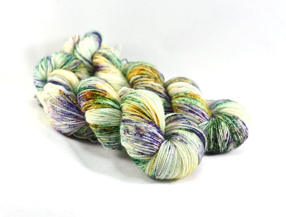 Mardi Gras - Postcard - Mardi Gras Sock Yarn - New Orleans Yarn - Fat Tuesday Yarn - Speckled Sock Yarn