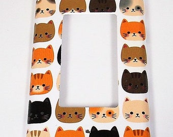 Rocker Light Switch Cover Switchplate  Wall Decor Light Switch Plate in  Cool Cats (236R)