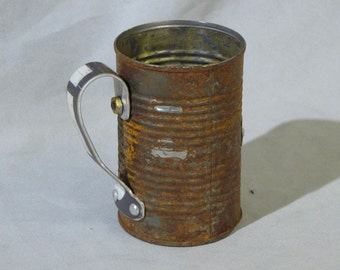 Tin can Beer mug with numbers