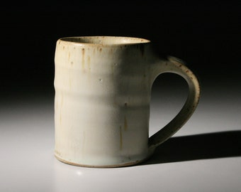 White Stoneware Coffee Mug