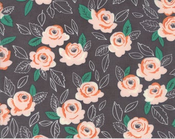 Sugar Pie (5040 13) Charcoal Wildest Rose by Lella Boutique