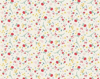 Bunnies and Cream, By Lauren Nash Bunnies Roses Cream C6022-Cream