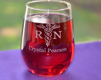 Personalized Nurses/Physical Therapist Glass~Good Day, Don't Ask Glass~Custom RN Graduation Gift~Engraved Retirement Gift~Nursing Student
