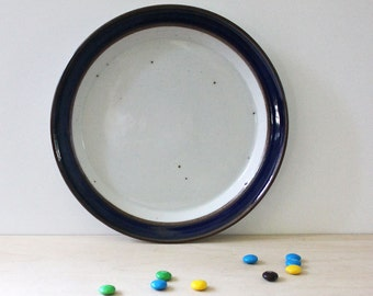 Dansk Blue Umber stoneware salad plate, 1980s Danish modern design.