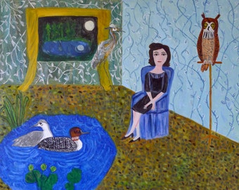 In a better place. Original oil painting by Vivienne Strauss.