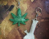 Best Buds: Handsculpted Glitter Stitch Markers for the Herbal Connoisseur
