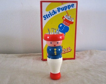 Knitting Nancy Strick Puppe Erika Wood Knitting Dolls German Knitting Tool Colorful Bobbin Doll Sewing Supply