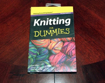 Knitting For Dummies Pocket Edition - Crafting Book, Knitting Book
