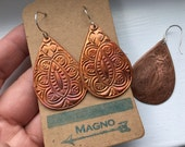 Copper India Paisley Drop Earrings