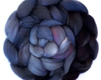 Superfine Merino Cashmere Silk Roving Custom Blend, Tempest, 4.3 oz.