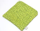 """Small Wet Bag for your purse or diaper bag - 6"""" X 6.5"""" inches - """"Green Leaves"""" - Woven Cotton Print - wetbag"""