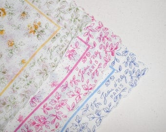 Vintage Handkerchiefs Jean D'orly Paris Hankies Set of 3