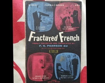 1950s Humor French Language Book