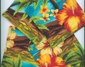 Mug Rug ,Set of 4, TROPICAL, Bright,  Fabric Coasters, Handmade, Hostess Gift, FREE Shipping in USet