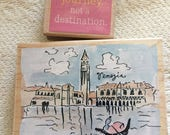 Life is a Journey  Venice  Rubber Stamps - penny black