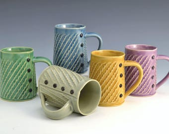 Handspun mug Handmade ceramic mug MADE to ORDER