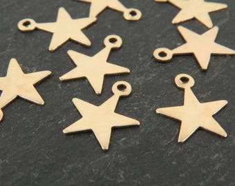 Gold Filled Star Charm 10mm (CG9569)